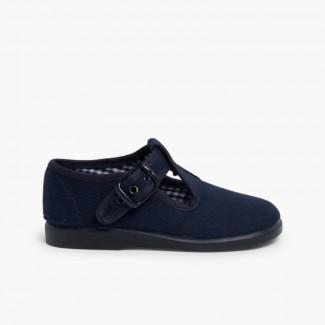 Sandalias Pepitos de Lona para Niños Azul Marino