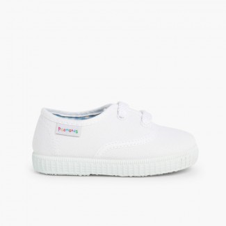 Zapatillas Niños de Cordones Blanco