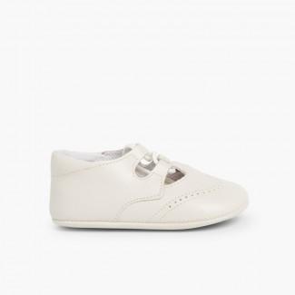 Zapato Inglesito Bebé de Piel Beige