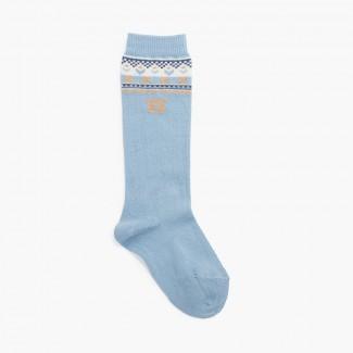 Calcetines altos oso Azul