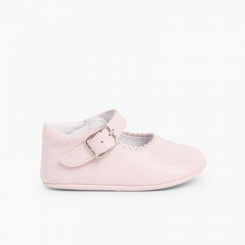 5d29c4da9 Badanitas Mercedita Bebé Piel Hebilla. Zapatos para Bebé