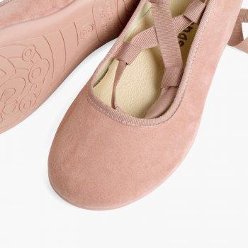 bonita y colorida imágenes oficiales buscar el más nuevo Bailarinas de niña y mujer en suede