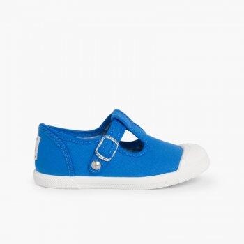 1f930262c Zapatillas Lona Niños Puntera Goma Tipo Pepitos Azul Royal ...