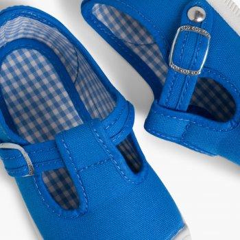 fe5b81622 ... Zapatillas Lona Niños Puntera Goma Tipo Pepitos Azul Royal