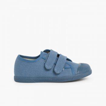 d477cfd84 Zapatillas de lona para niños con puntera de goma