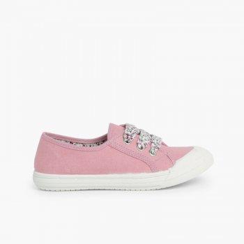 cce1937a0 Zapatillas Tela Punta Goma Cordones. Zapatos para Niños