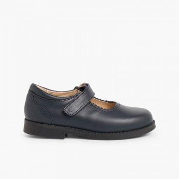 36535fc0 Zapato Colegial Merceditas Niña Velcro | Pisamonas