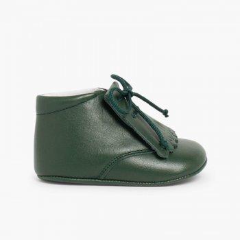 ... Zapatos Beb eacute  Piel Tipo Botita con Flecos ... 5a1b78c4639