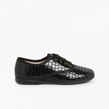 ef0910d818e67 Zapatos Blucher Mujer y Niña Coco. 100% Hecho en España