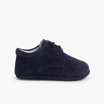 Badanas Bebé de Serraje tipo Blucher. Zapatos online f55f621a00f