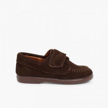 a5fcdc1ea Mocasines Niños Serraje Velcro. Zapatos baratos Niños