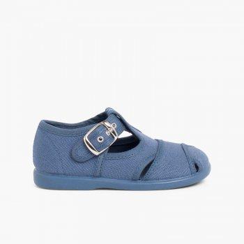 d404361a Sandalias Pepitos de lona abiertos. Zapatos infantiles