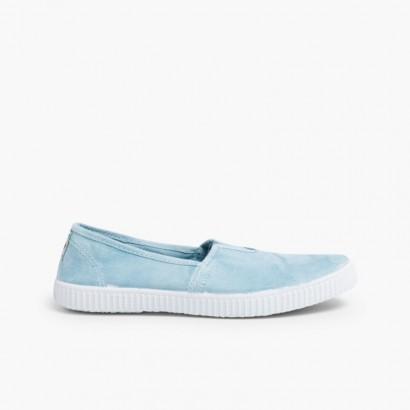 Zapatillas Camping Slip On con Elástico Azulado