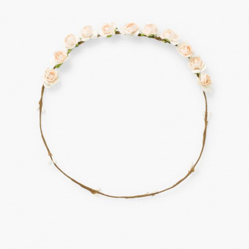 Corona media de flores  Crudo