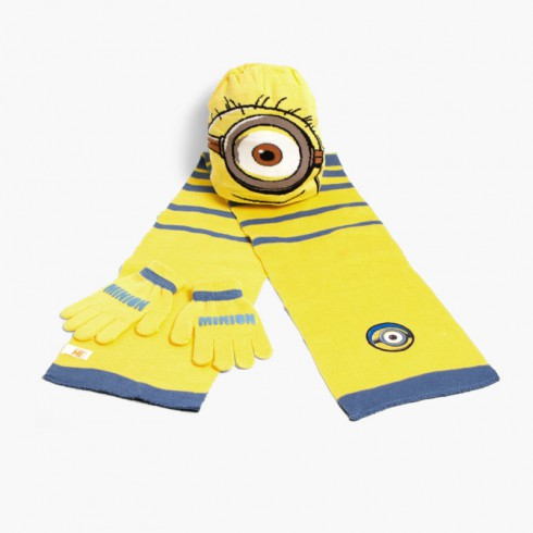 Set gorro bufanda y guantes niños Disney Minions
