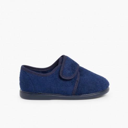 Zapatillas Casa Velcro Azul Marino