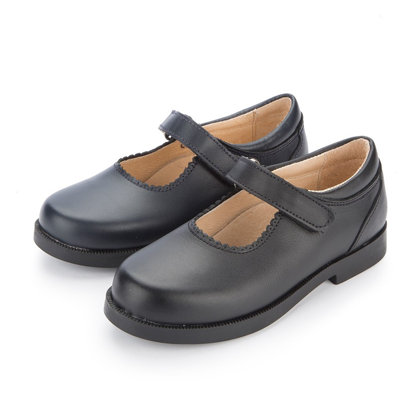 Zapato Colegial Merceditas Niña tira adherente