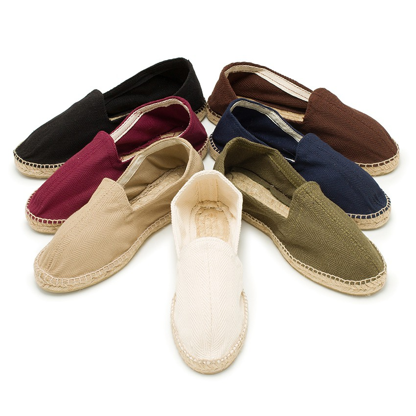Product Description Classic alpargata style, canvas upper, elastic gore for easy fit, suede.