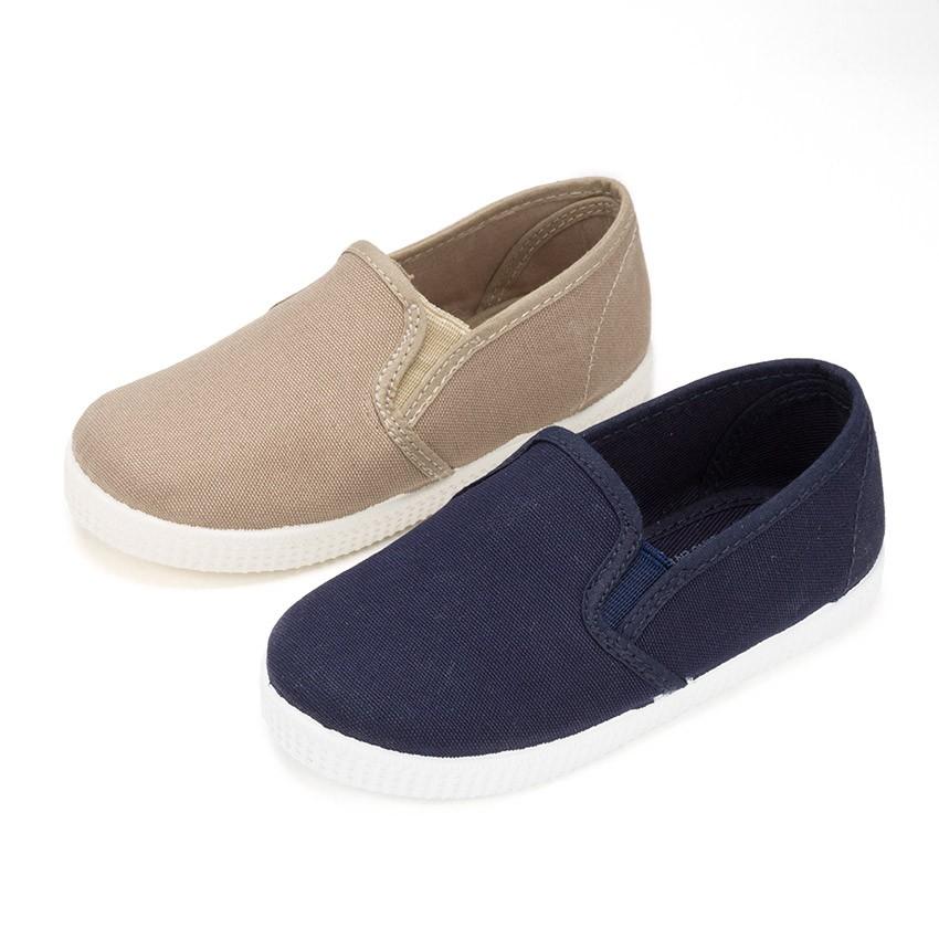 Zapatillas Lona con Elastico y Suela de Goma