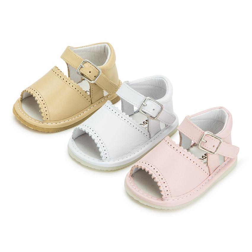 Badana Sandalia de Piel Bebés Niñas con Hebilla