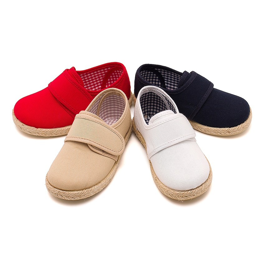 Zapato Blucher cinta adhesiva  Suela Alpargata