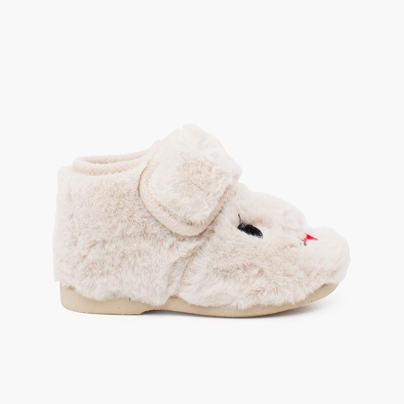 Zapatillas casa conejito pelo suave