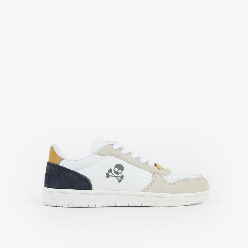 Sneakers Scalpers niños piel detalle contraste azul