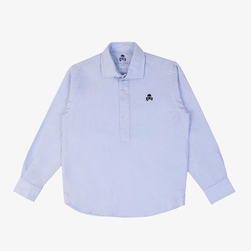Camisa oxford niños polera azul Scalpers