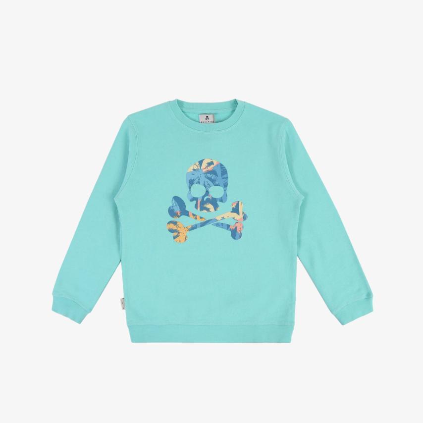 Sudadera niños calavera tropical azul Scalpers