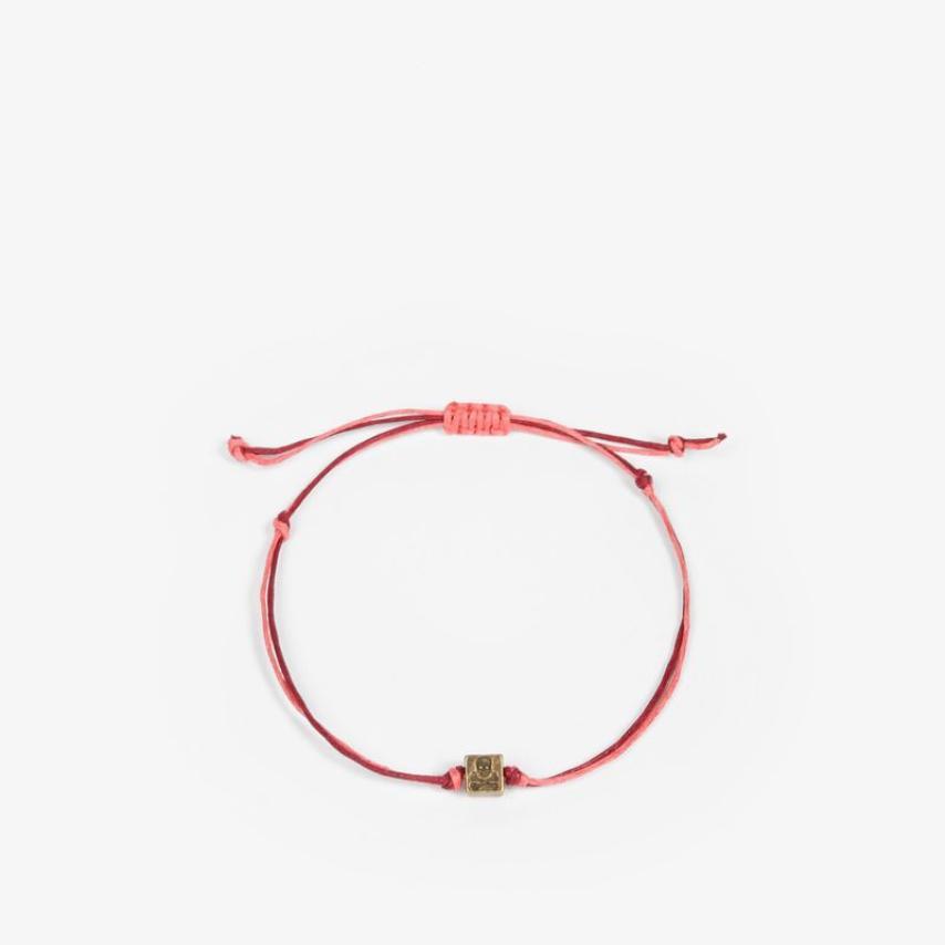 Pulsera cordón detalle rosa Scalpers