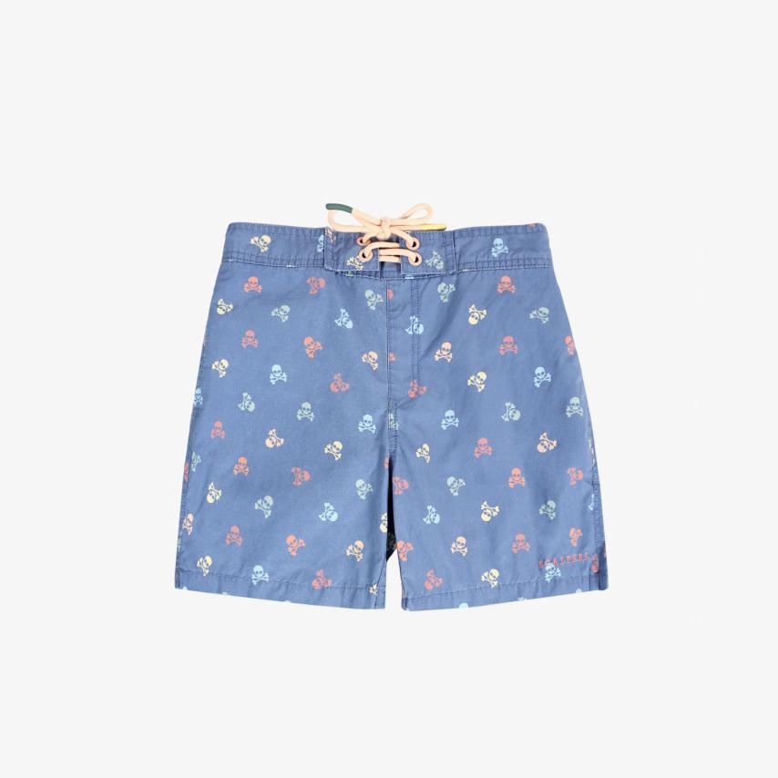 Bañador niño calaveras multicolor azul Scalpers