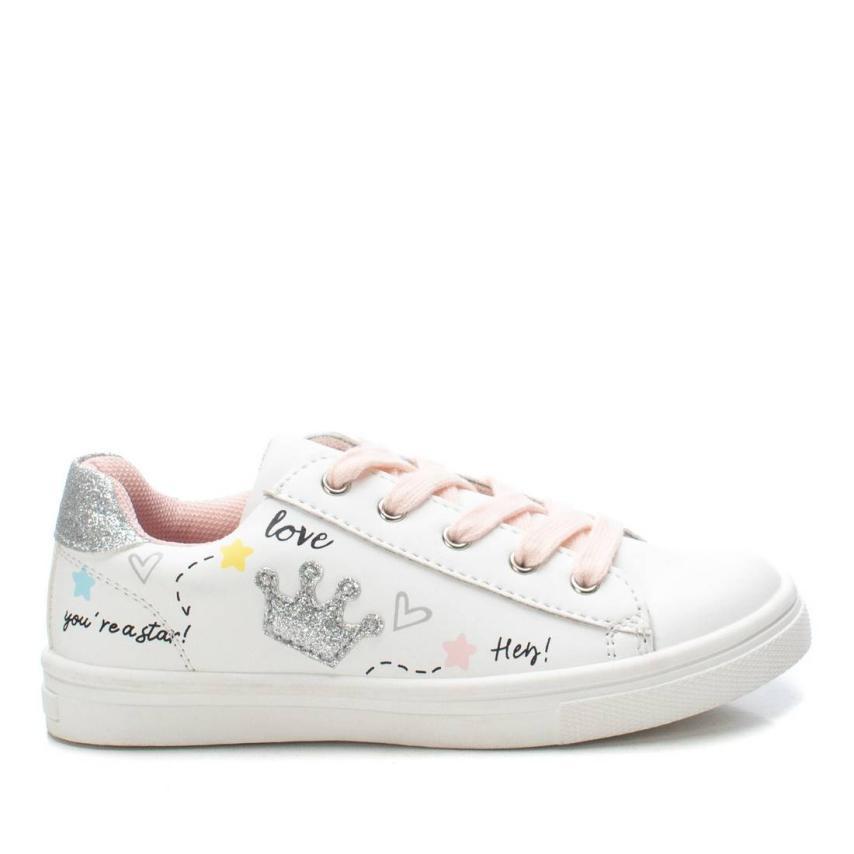 Zapatillas Xti Kids niñas dibujos y glitter