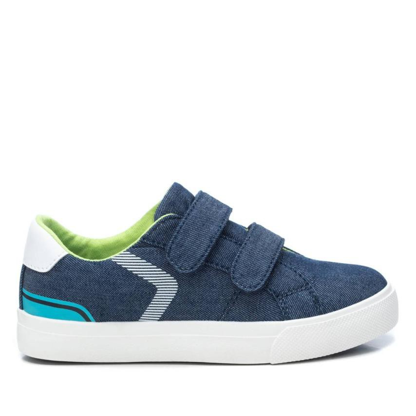 Zapatilla Xti Kids efecto jeans doble cierre