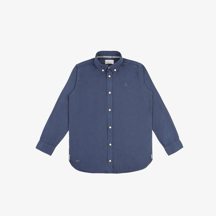 Camisa calavera tono azul oscuro Scalpers