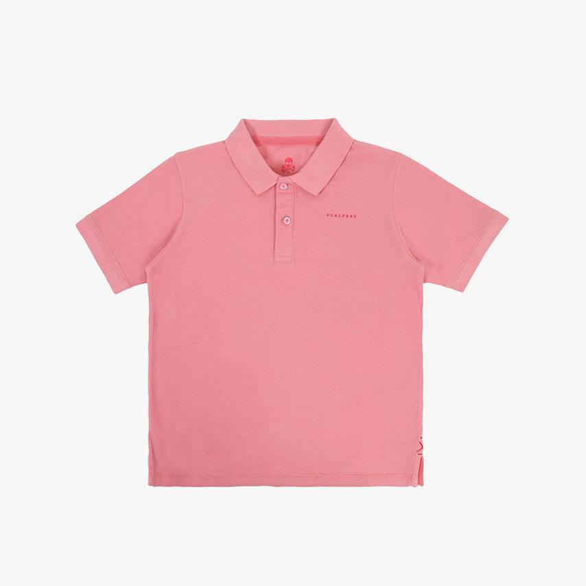 Polo calavera trasera rosa Scalpers