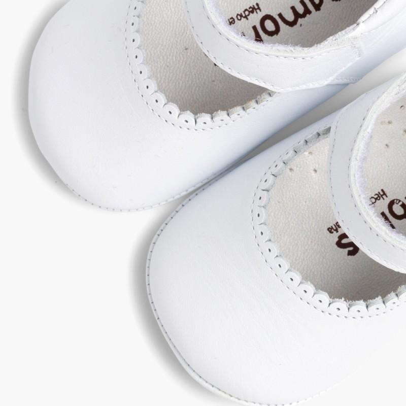 8ba33ce30 Badanitas Merceditas Bebé Piel Velcro. Calzado de Bebé
