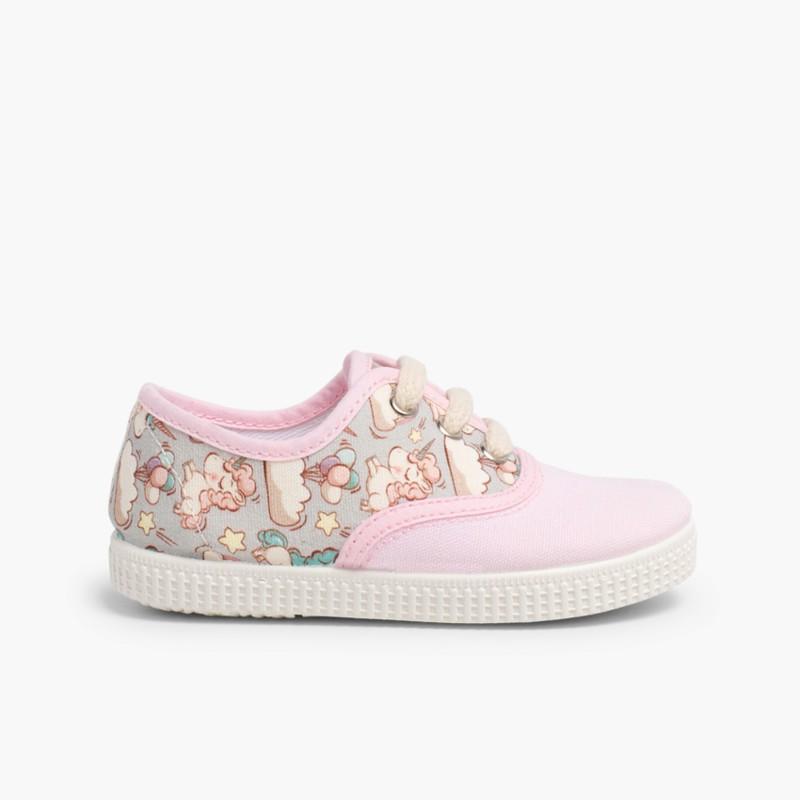 Zapatillas de lona estampadas para niños y niñas 8bae4e72ecd