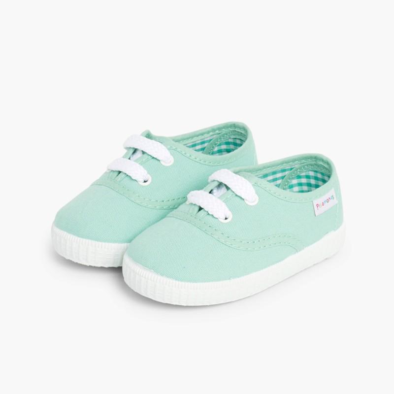 bac68c86 Zapatillas niños baratas de lona | Playeras para niñas | Pisamonas