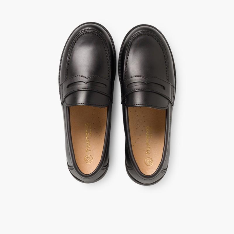 Zapatos Colegiales Escolares Niño Mocasines Pisamonas e14240e14ba8