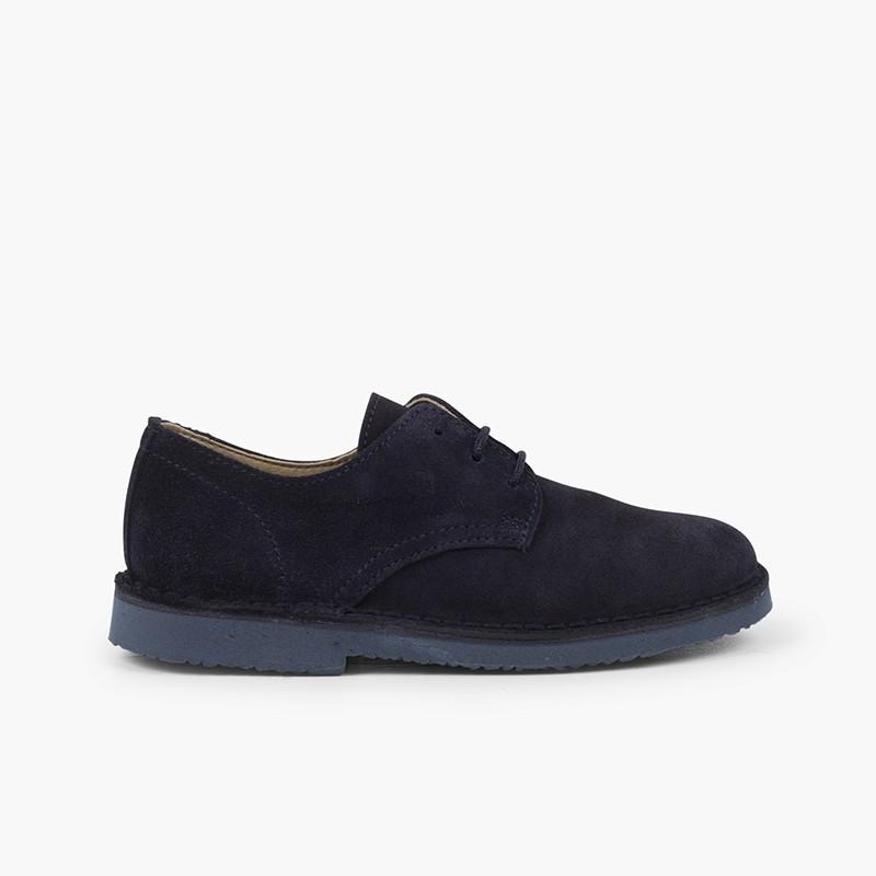 Blucher serraje liso zapato de vestir niño