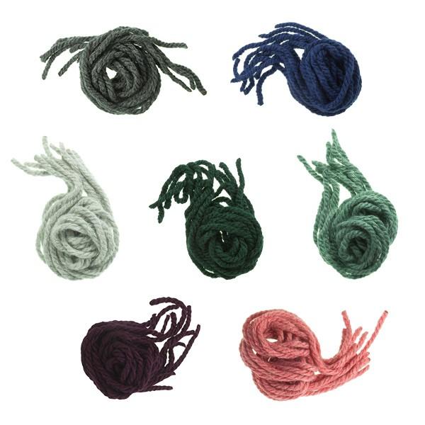 Cordones para el pelo de niña en lana monocolor