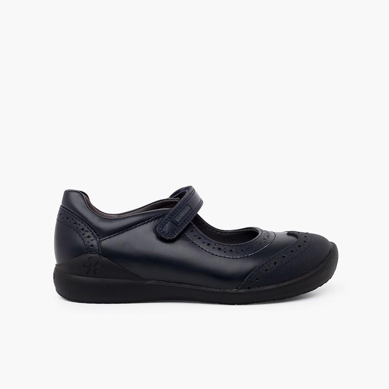 Zapatos colegiales Biomecanics Niña con picado