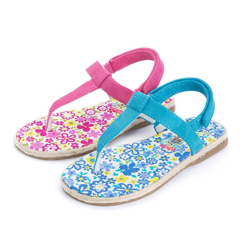 Sandalias de Dedo Lona tira adherente    para Niñas
