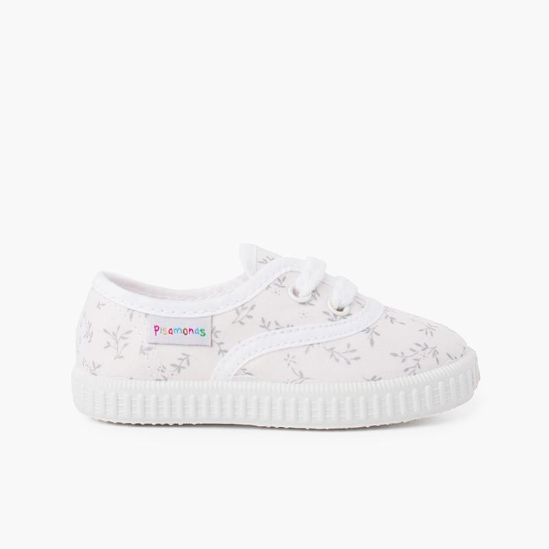 Zapatillas lona estampada niños
