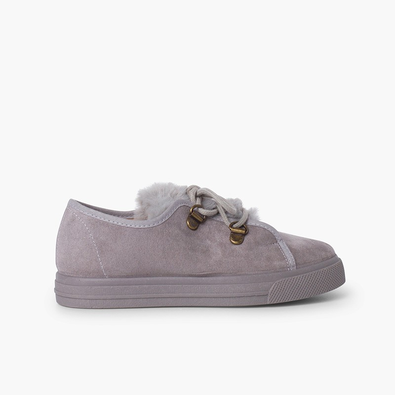 Zapatillas suela ancha niña pelito