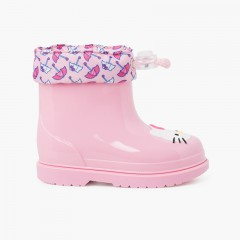 Botas agua Hello Kitty caña baja Rosa
