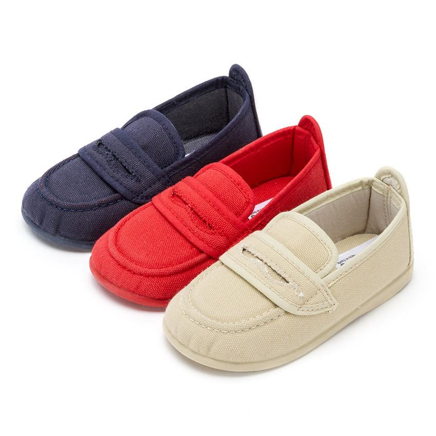 Mocasines ni os tela lisos calzado marca pisamonas for Casas zapatos ninos