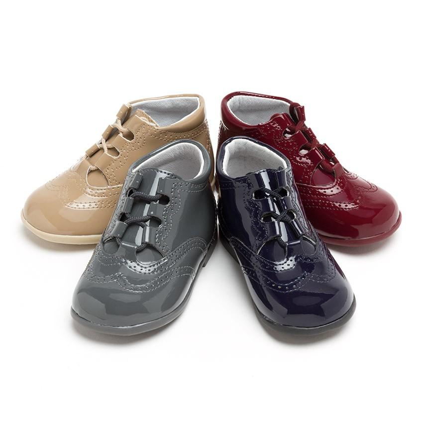 98640cb46b3 Zapato Inglés Tipo Charol