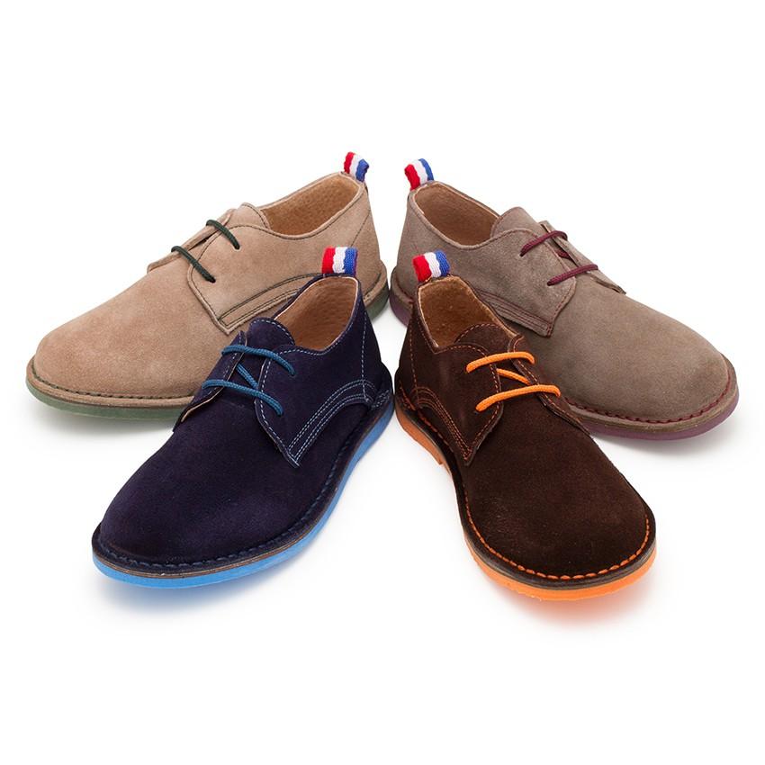 Zapatos blucher serraje suela y cordones colores de ni o for Casas zapatos ninos