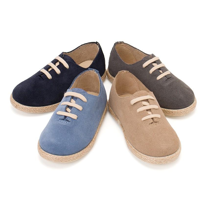 Zapatillas cordones serraje y yute ni os calzado barato for Casas zapatos ninos